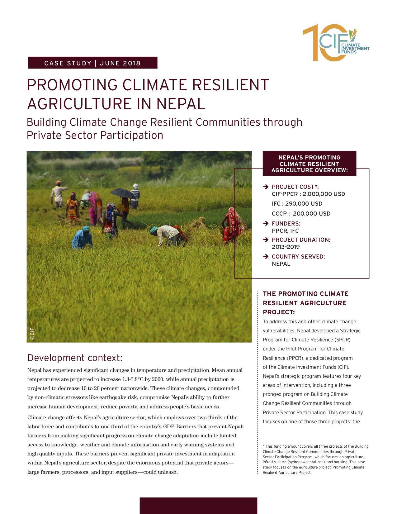 Promoting Climate Resilient Agriculture in Nepal: Building