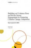 Building an Evidence Base on Private Sector Engagement in Financing Climate Change Adaptation