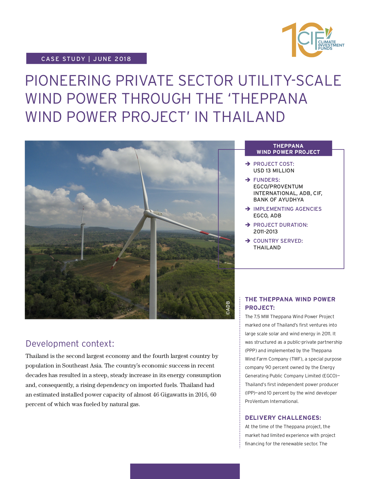 Pioneering private sector utility-scale wind power through the