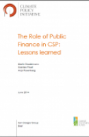The Role of Public Finance in CSP: Lessons Learned (Full Report)
