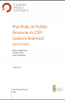 The Role of Public Finance in CSP: Lessons Learned (Annexes)