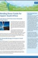 Case Study: Blending Donor Funds for Impact: South Africa