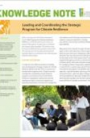 Leading and Coordinating the Strategic Program for Climate Resilience