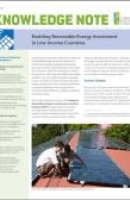 Enabling Renewable Energy Investment in Low-Income Countries