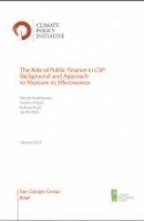 The Role of Public Finance in CSP: Background and Approach to Measure its Effectiveness