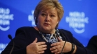 Norwegian Prime Minister Erna Solberg, attends the annual meeting of the World Economic Forum (WEF) in Davos, Switzerland, January 18, 2017.  REUTERS/Ruben Sprich